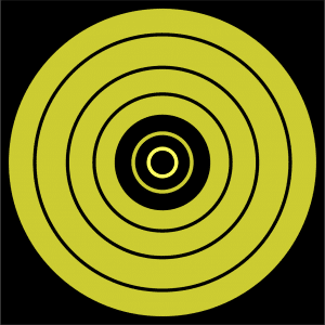 ThermBright Bullseye target normal view