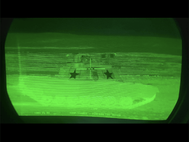 USA tanks with thermal marker