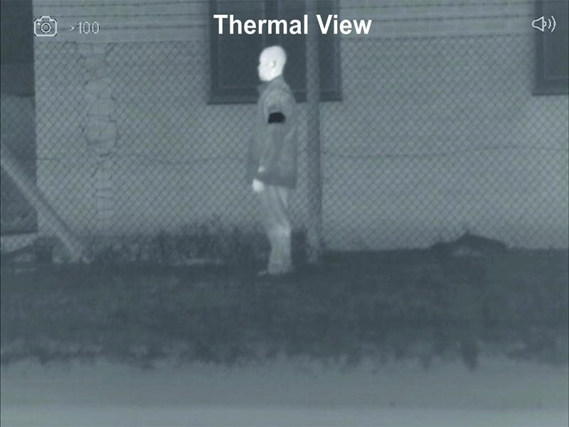 Personal ID marker reverse polarity thermal view