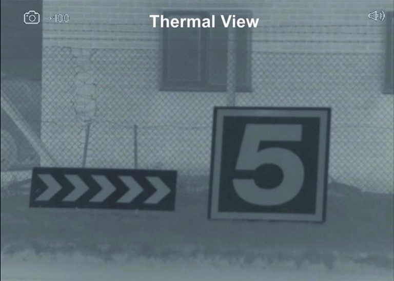 Range Markers thermal reverse polarity view