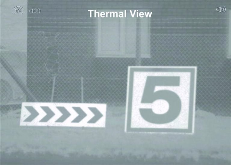 Range Markers thermal view