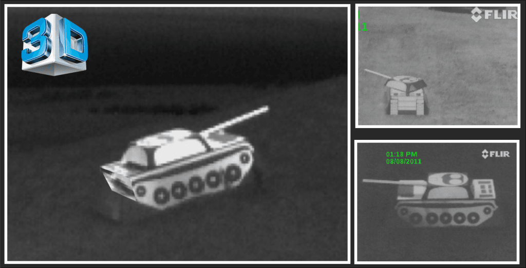 Thermal Views of 3D Tank Targets