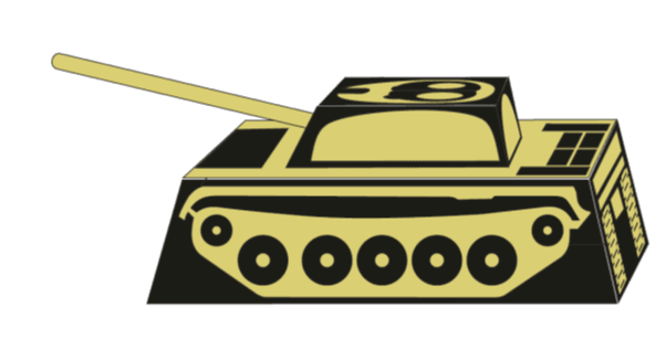 3D Target image of T55 tank