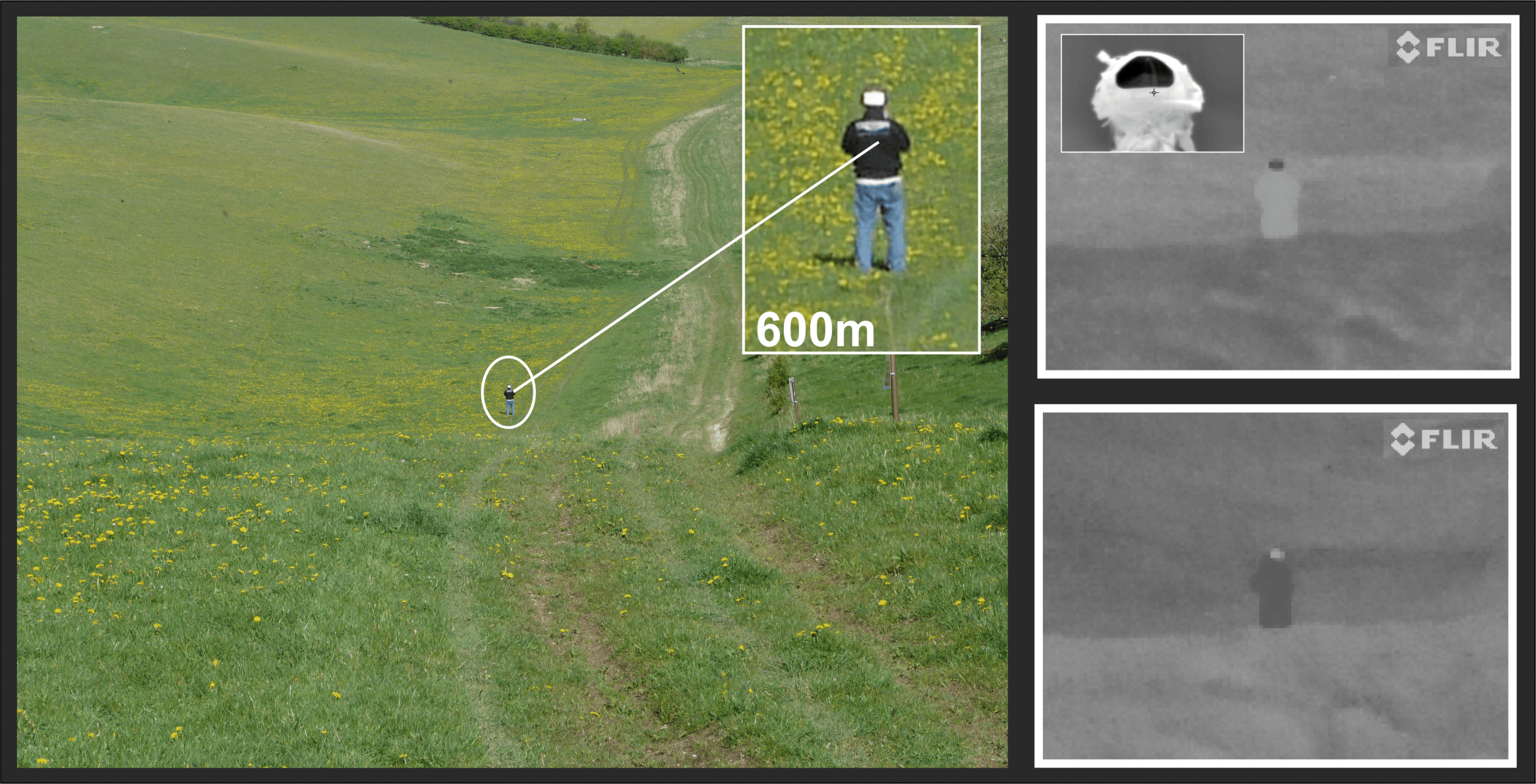ThermBright Thermal ID marker visual and thermal views