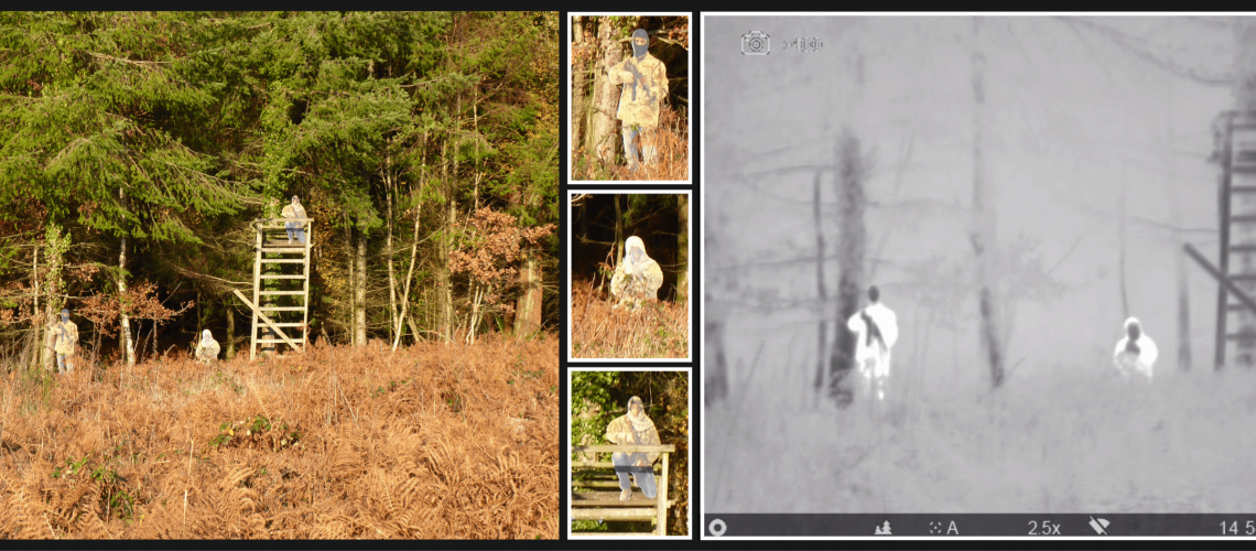 PRTT Infantry targets in visual and thermal views